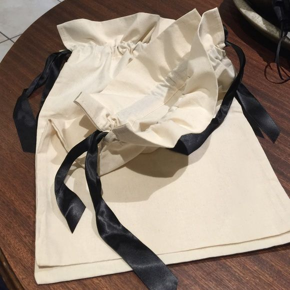 """Valentino Shoe Dust Bags Canvas with black silk ribbon. 10-3/4"""" x 15"""". New. Authentic. Valentino Shoes"""