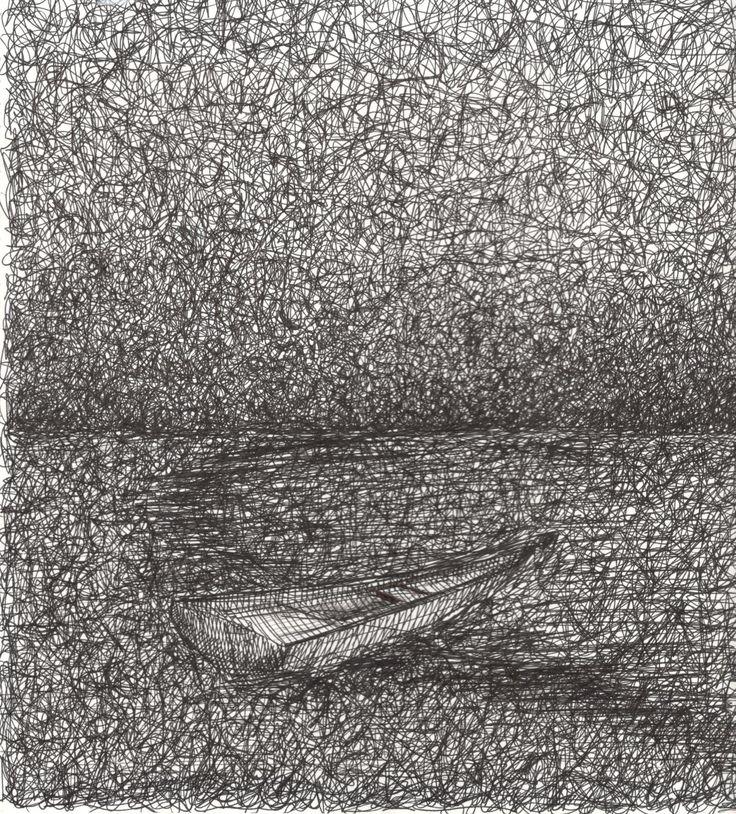 Sueños Enredados,2014 Tinta china sobre papel 30x22 cm
