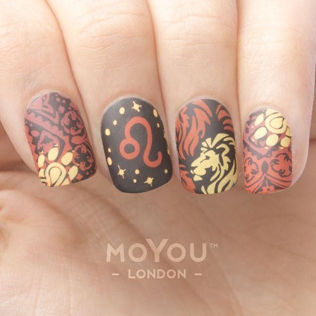 Leo Nails Zodiac Nail Designs Cute Acrylic Nails Nails