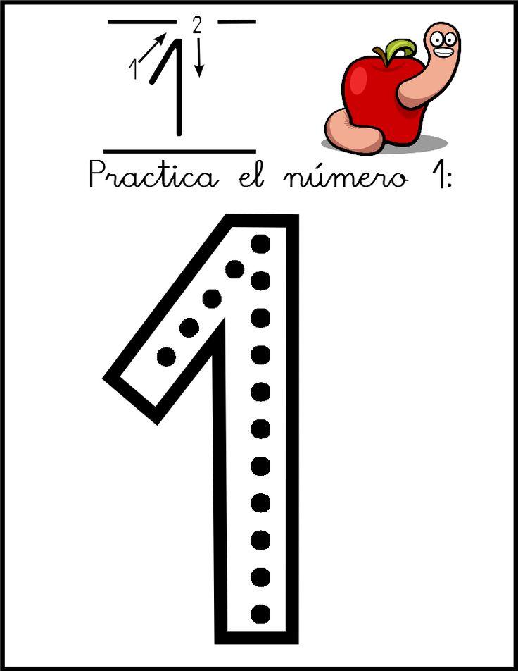 Lectoescritura de números el número 1