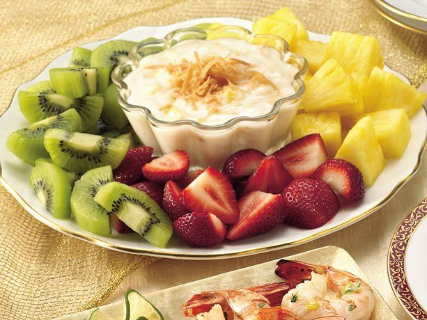Fruit with Piña Colada Dip ~   http://vipsaccess.com/luxury-hotels-caribbean.html