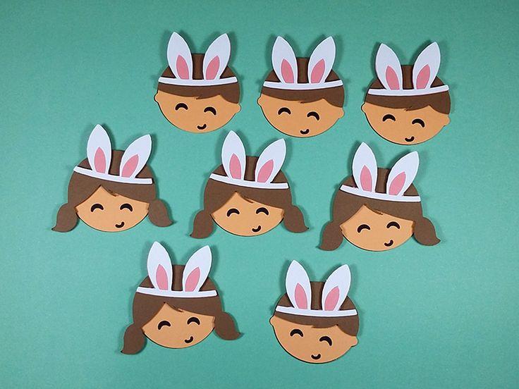 Apliques decorativos no tema da Páscoa.