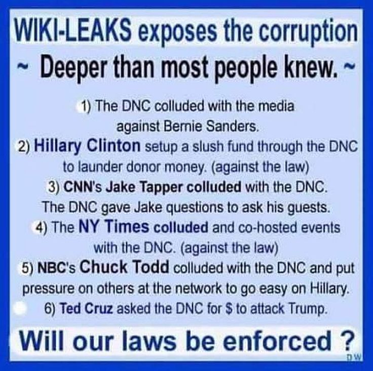 Wikileaks lessons, yet the FBI says not guilty?!? If it wad you or me, we'd be in a cage with a cell mate named bubba! zTHE FIX IS IN, VOTE TRUMP!!!!