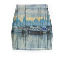 Sail Masts and the Melbourne Skyline - Williamstown, Victoria Pencil Skirt
