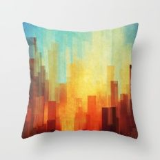 10) Urban sunset Throw Pillow from Society6 for $20