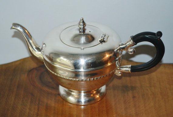 Viking Silverplate Tea / Coffee Pot Vintage Teapot EP Copper