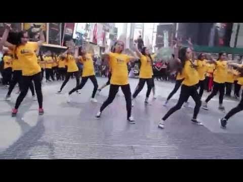iifa flash mob Times Square, NY USA - YouTube