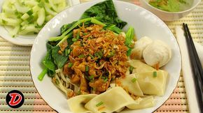 RESEP Mie Pangsit Ayam, Cara Membuat Mie Video Demo Masak, BAHAN :MIE untuk…
