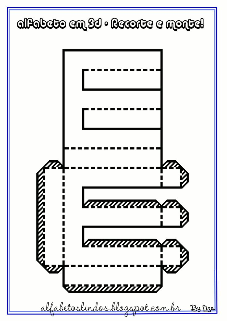 Moldes para recortar letras para hacer 3D