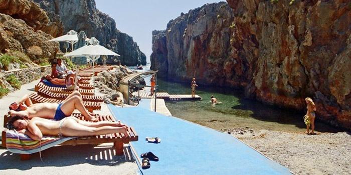 Pirates' Fjord Beach in Plakias, Rethimno, Crete