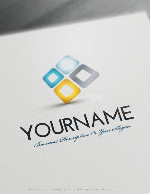 Design Free Logo: 3D company online Logo Template