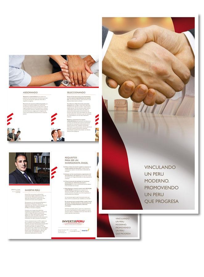 Cliente: Invertir Perú. Red de Inversionistas Ángeles  Proyecto: Brochure Imagen Institucional