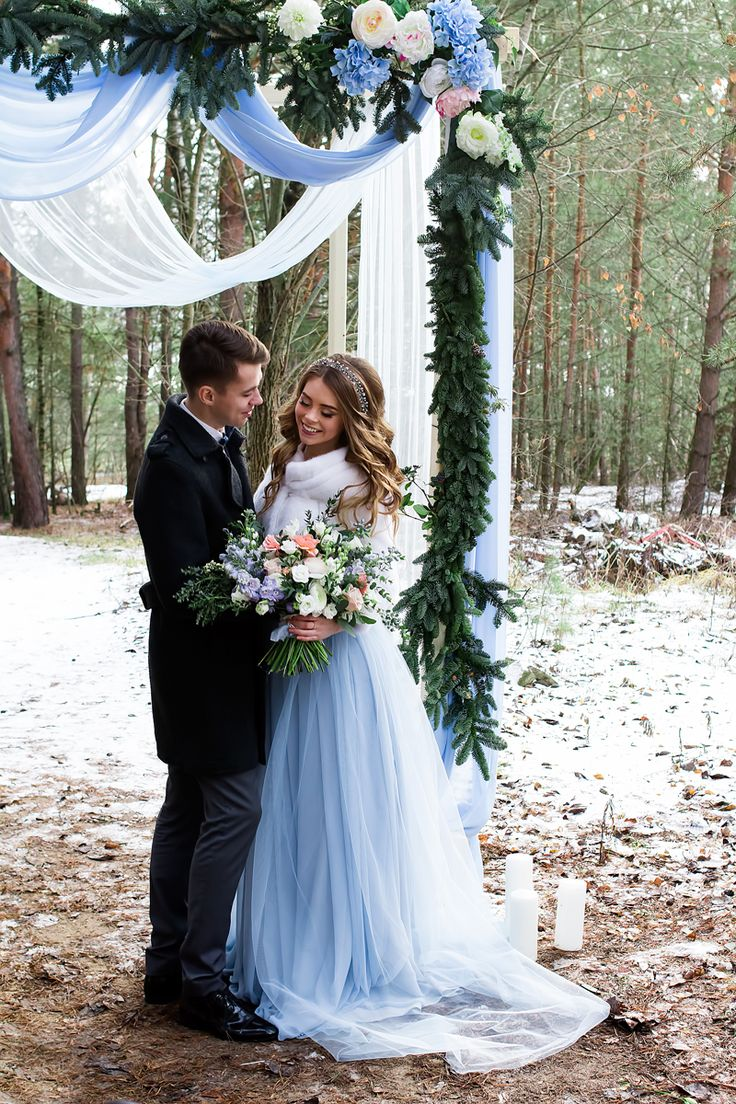 Light Blue Grey Wedding Colors vision for an elegant