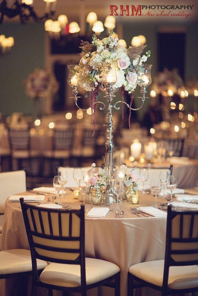 Cape May Wedding Florist - A Garden Party florist - RHM Photography - Congress Hall - fall wedding - white pumpkins - gold accents - white wedding flowers - blush wedding flowers - roses - vintage wedding - candelabra - succulent