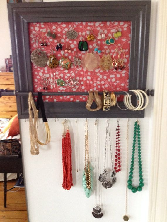 Framed jewelry organizer / jewelry holder