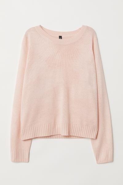 bf2de8916c Knit Sweater - Powder pink - Ladies