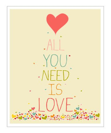 Take a look at this Cream & Pink 'All You Need is Love' Giclée Print by Finny and Zook on #zulily today!