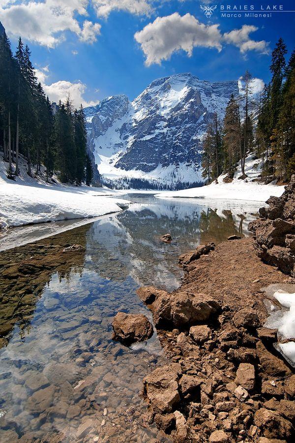 Braies Lake by Marco Milanesi, via 500px