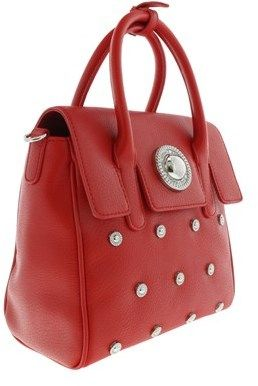 Versace Ee1vqbbr2 E500 Classic Structured Crossbody Bag Signature Medallion Red Crossbody Bag.