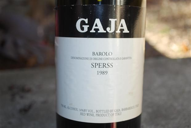 1989 Gaja Barolo Sperss, Italy, Piedmont, Langhe, Barolo ...
