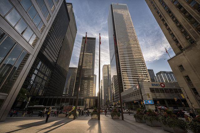 Downtown Toronto's financial district.  Photo by Ben Roffelsen.