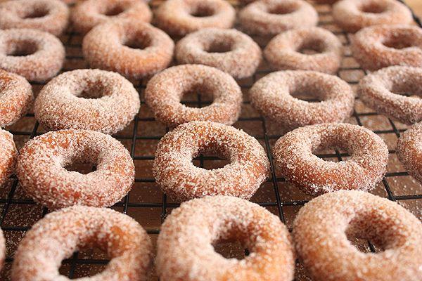 Fried cake doughnuts, for my doughnut weakness.