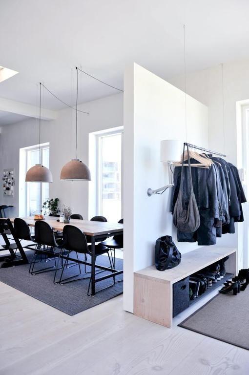 34 best entrée images on Pinterest Coat storage, Design interiors - espace entre plan de travail et meuble haut