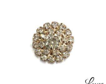 Splendide decorazioni di strass oro 20mm con un piatto indietro - inviti di nozze fai da te - Bulk strass pulsanti - MR558 oro rosa chiaro