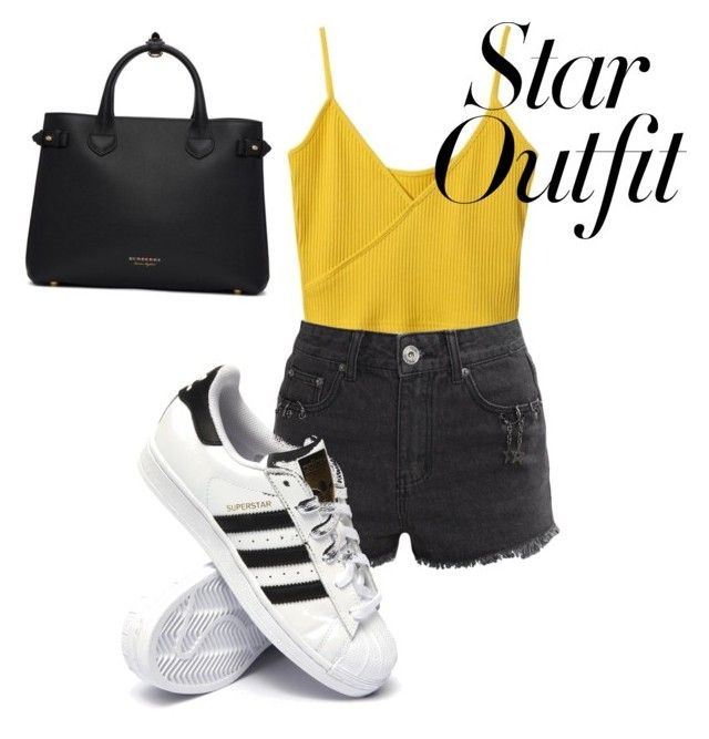 """☀️🖤"" by isagarcia18 on Polyvore featuring Liquor n Poker, adidas and Burberry"