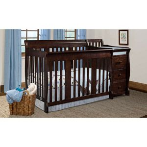 Storkcraft   Portofino Convertible Crib And Changer Combo, Espresso