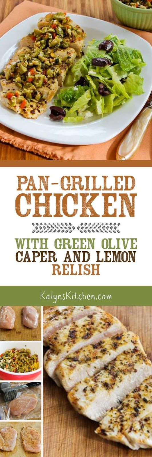 Green olive fans will love this easy Pan-Grilled Chicken with Green Olive…