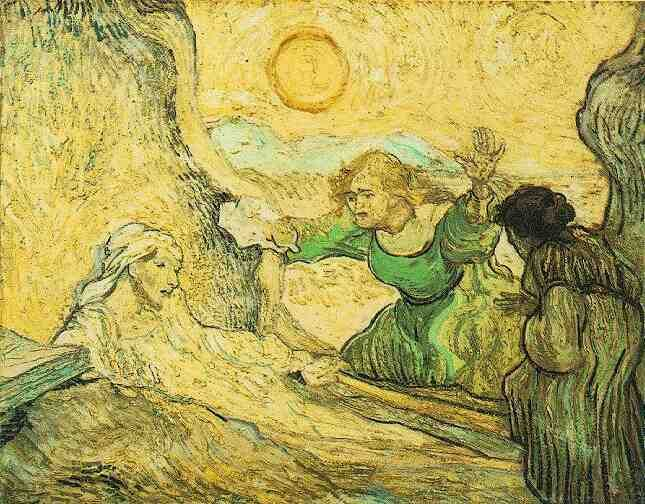 Vincent van Gogh:  (The Raising of Lazarus--after Rembrandt)