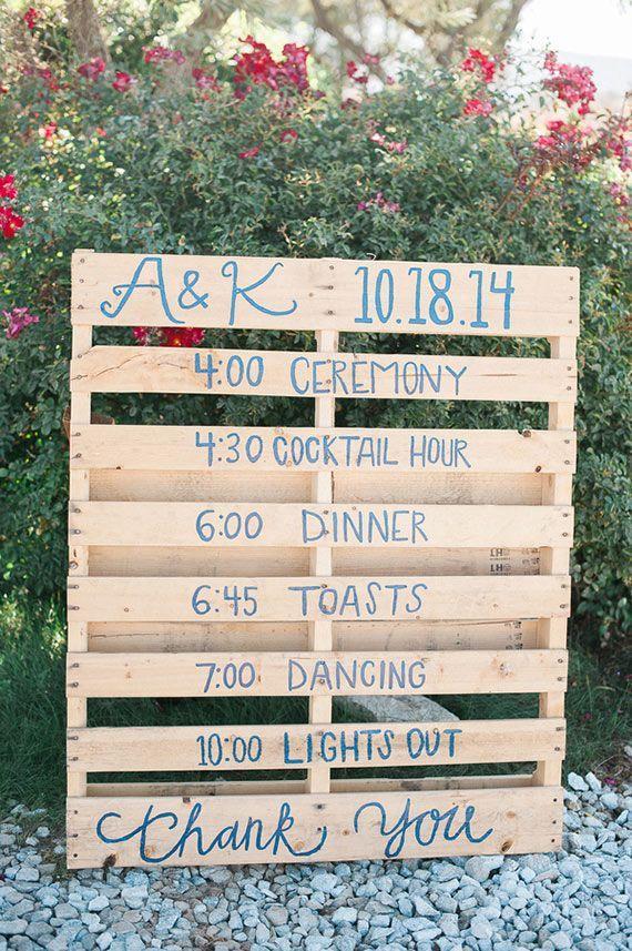 DIY Hochzeits Zeitplan Palette DIY wedding schedule palette | DIY Hochzeitsideen . DIY wedding ideas | Rheinland . Eifel . Koblenz . Gut Nettehammer | Foto: Brandi Welles |