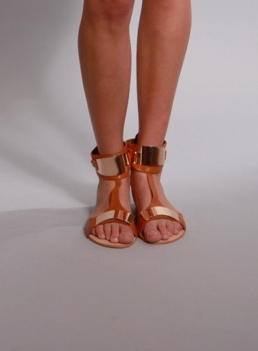 Arm Plate Sandal by Minty Meets Munt #spring #summer #MMM #goshcelebrity #shoes #love #style #fashion #tan #goldmetal