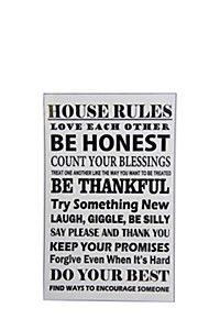 HOUSE RULES 90X120CM VINYL WALL STICKER