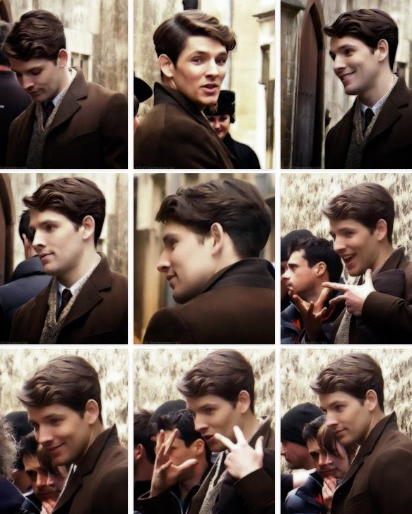Colin Morgan filming 'Testament of Youth' in Oxford in April 2014. ASDJHJDKSFHDJKLGDF