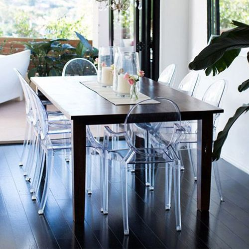 Hoje vamos falar um pouco sobre as cadeirastransparentes.Elas ganharam força quando o designer,Philippe Starckextraiu o que havia de mais puro na essência de um clássico do mobiliário ocidental –a barroca…