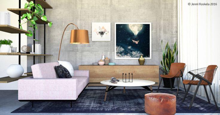 #interiorrendering #3dvisualization #designinspiration #scope #livingroom #interiordesign #natuzzi #foscarini #aliasdesign #paulabelleflores #mareikeböhmer