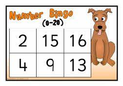 Numbers 0-20 bingo (SB6065) - SparkleBox