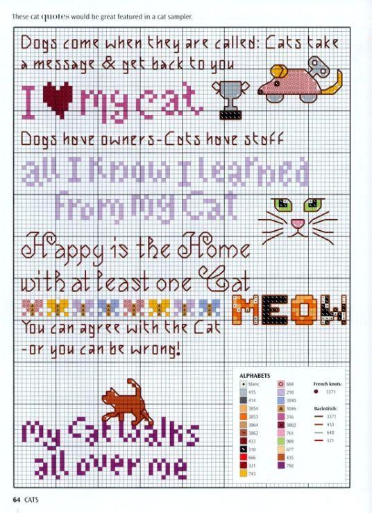 Cross-stitch Fun Cats Stuff... Gallery.ru / Фото #166 - Маленькие схемки 4 - bangel98