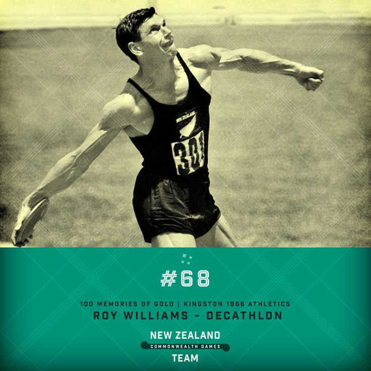 Golden Memory #68. The incredible Roy Williams decathlon champion at the 1966 Commonwealth Games in Kingston. #makingusproud