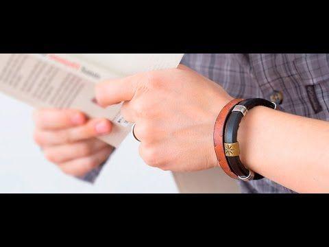 Erkekler için Aksesuarlı Deri Bileklik Yapımı - YouTube