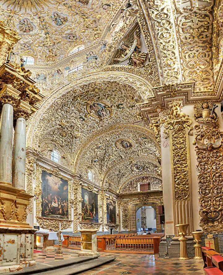 Capilla del Rosario, Puebla. A beautiful chapel that you'll need to check out on your next trip to Mexico.