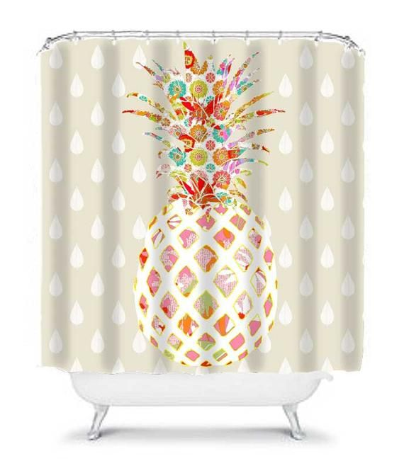 Pineapple Bathroom Decor Unique Shower Curtain Pineapple Shower