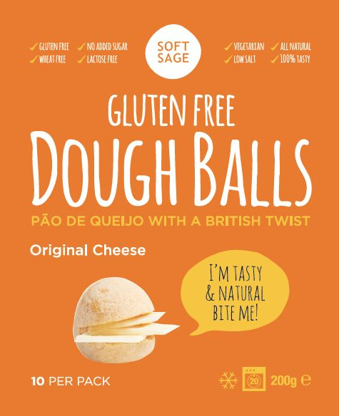 Gluten Free & Vegetarian Cheese flavour dough balls *Lactofree www.softsage.co.uk