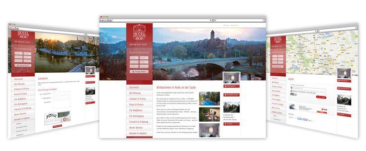 Internetseite mit Typo3 CMS | Kunde: Hotel Kröllwitzer Hof, Haale (Saale), Sachsen-Anhalt | Branche: Hotel/Gastronomie | http://www.hotel-halle-saale.de