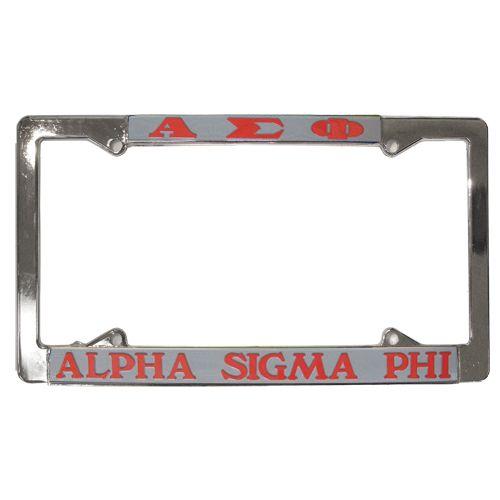 Campus Classics - Alpha Sigma Phi License Plate Frame: $16.95