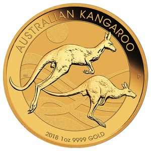 The 2018 Australian Kangaroos are one of our favorite modern gold coins and are produced by the Perth Mint. They combine great features of being genuine legal tender, mintages that are strictly limited, and a design that changes every year. - Get yours today, just call 1-800-928-6468