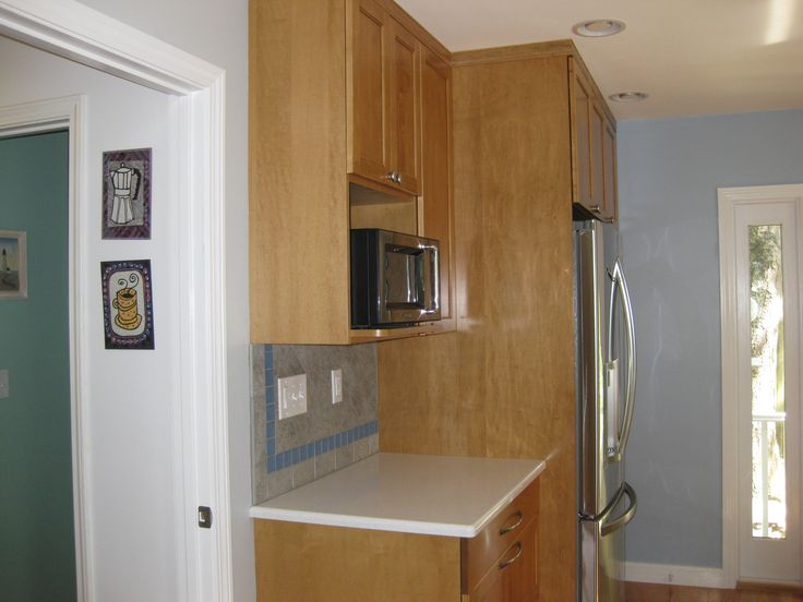 14 best images about microwaves on pinterest countertop for Kitchen cabinets not wood