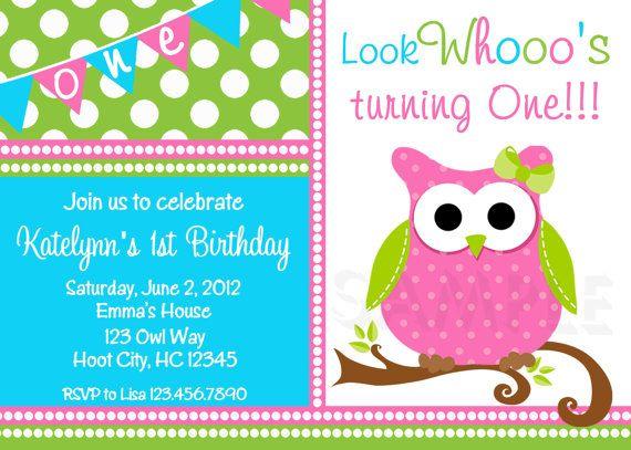 25+ best owl birthday invitations ideas on pinterest | owl, Birthday invitations